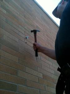 Installing brackets into brick (1)